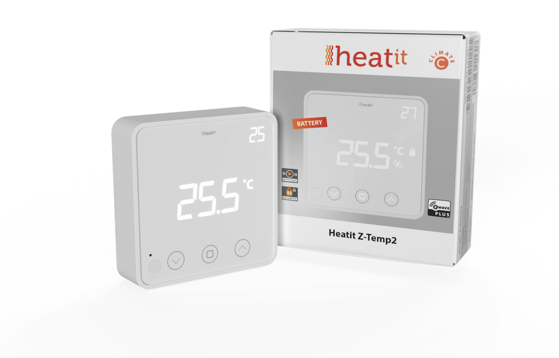 Heatit Z-Temp2: A battery-operated thermostat
