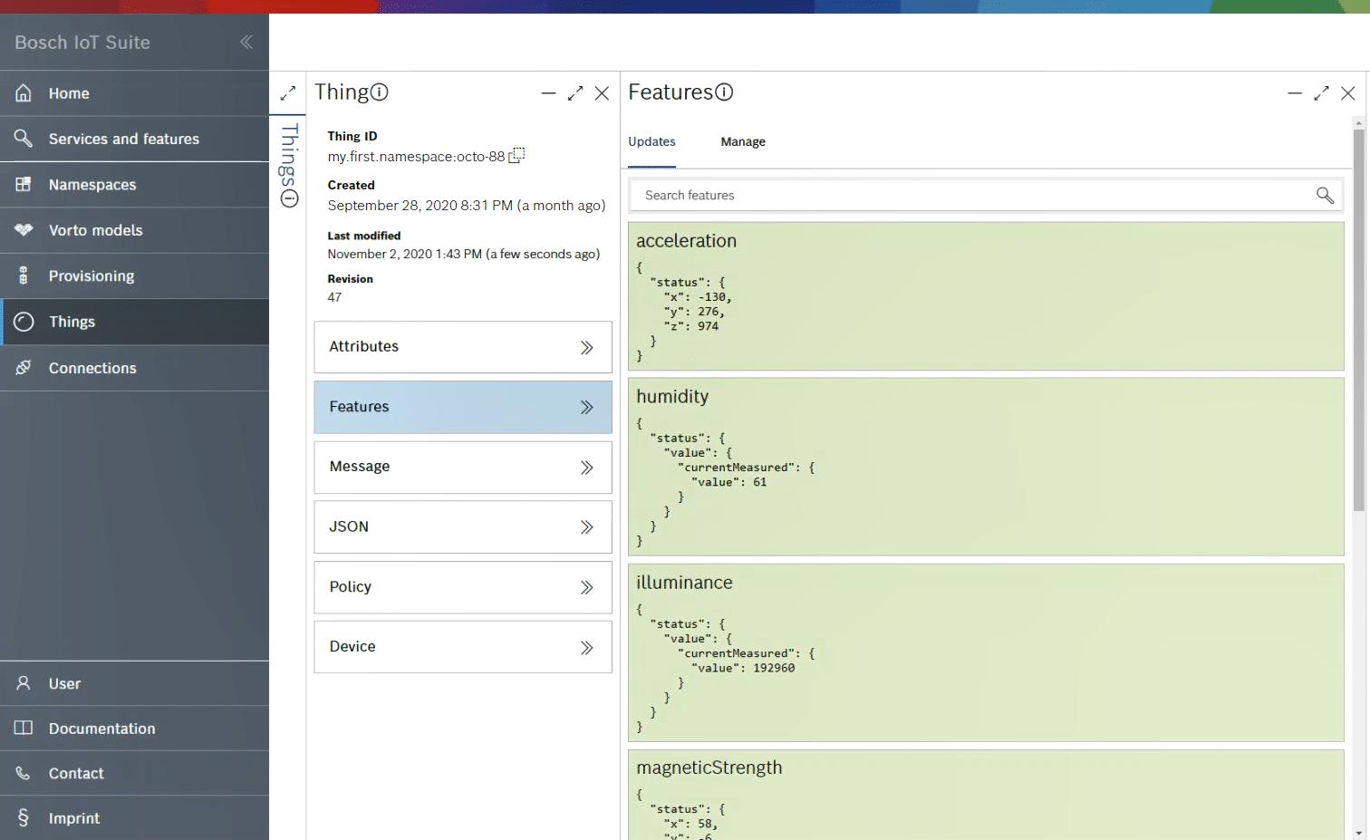 Access your XDK sensor data